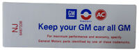 1971 Oldsmobile keep Your Gm Car All Gm Air Cleaner Decal Ram Air