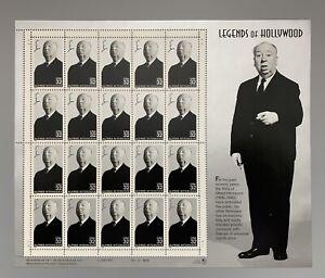 US Scott 3226 32c Alfred Hitchcock Legends of Hollywood MNH 20 Stamps Sheet 1997