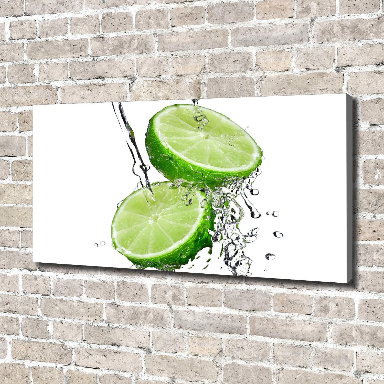 Leinwandbild Kunst-Druck 140x70 Bilder Essen & Getränke Limetten Wasser