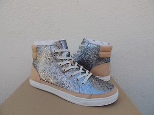 2605ff9d874 Details about UGG GUNMETAL GRADIE GLITTER LEATHER SNEAKER ANKLE BOOTS, US  10/ EUR 41 ~NIB