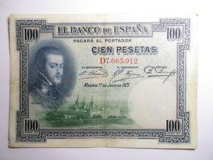 BILLETE-DE-100-PESETAS-DE-1925-SERIE-D