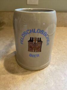 Feldschlosschen Bier 0.5 Liter Beer Tankard Mug Ceramic German Beer Stein