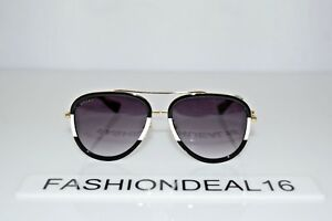 e14c0f72f4 New GUCCI Aviator Gold Black White GG0062S 006 Aviator 57-17-140 ...