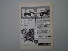 advertising Pubblicità 1960 PROIETTORE BOLEX PAILLARD 18-5
