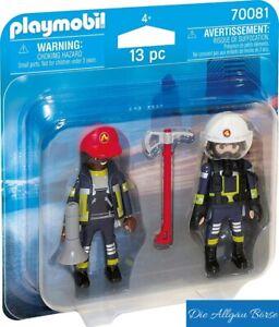 Playmobil-70081-Duo-Pack-Feuerwehrmann-u-frau-City-Action-Fire-Rescue-Neu-OVP