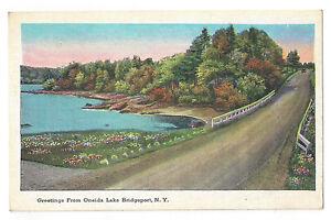 VINTAGE-POSTCARD-ONEIDA-LAKE-BRIDGEPORT-NY-CENTRAL-UPSTATE-NEW-YORK-TICHNOR-BROS
