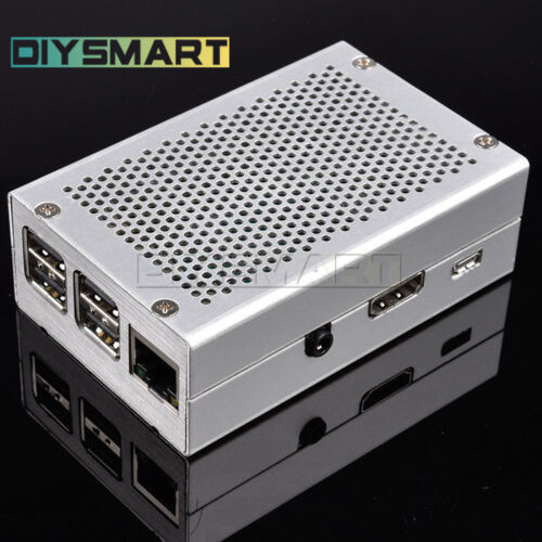 AU Silver Aluminum Alloy Metal RPi Shell Kit for Raspberry Pi 3 Pi 2 and B