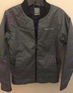 RIDE-SNOWBOARDS-Mens-Small-Lined-Snow-Jacket-Black-Gray-Thick-Winter-Cold-A