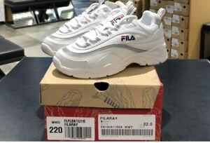Details About Fila Ray Disruptor Fashion Sneakers For Women S Shoes Fs1sia1165x White