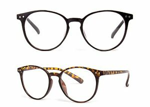 7e3f025ea3 Image is loading Large-Oversized-ROUND-READING-Glasses-Horn-Clear-Lens-