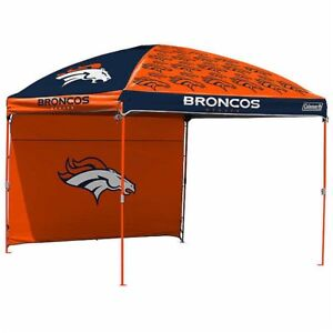 Coleman Nfl 10 X 10 Dome Canopy With Wall Denver