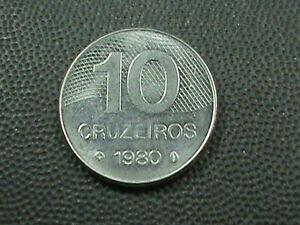 Brasilien-10-Cruzeiros-1980-Handgehoben-Maximum-in-USA