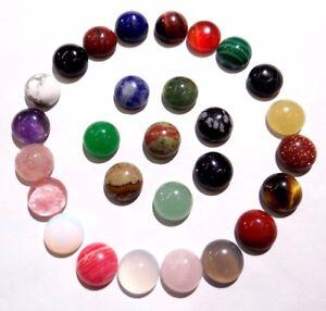 8-8MM-Natural-Mixing-agate-Round-cabochon-Flatback-Semi-Precious-Gemstone