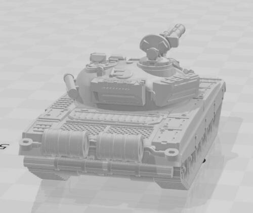 28mm 1//56 3D printed Post War Soviet T72A Main Battle Tank Bolt Action Suitable