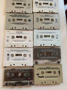 Vintage Cassette Tapes Mixed Genre Lot of 10