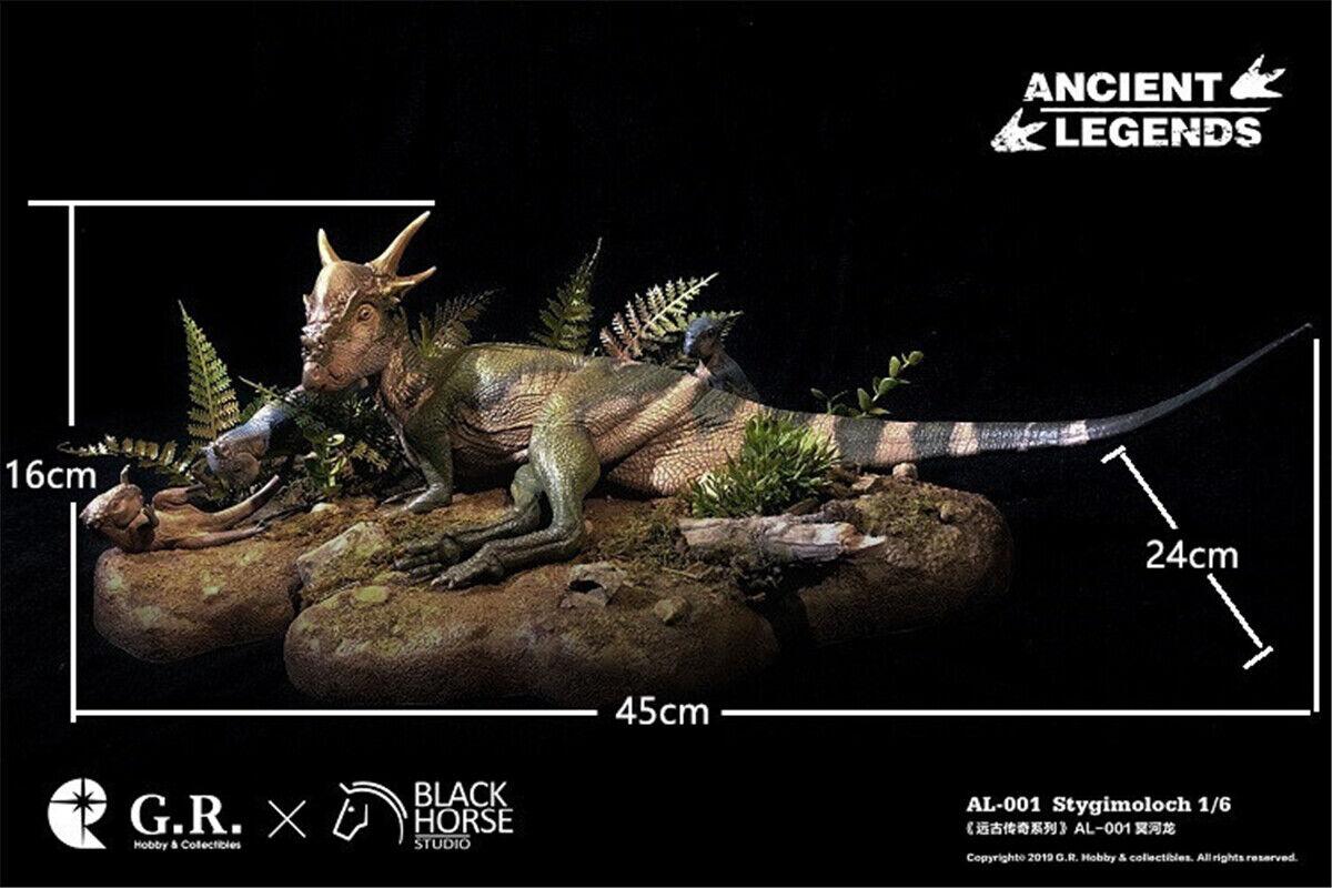 1  6 Stygimoloch Family Staty Dinosauri modelllllerlerl leksak Dinos samlaor Decor GK Gift