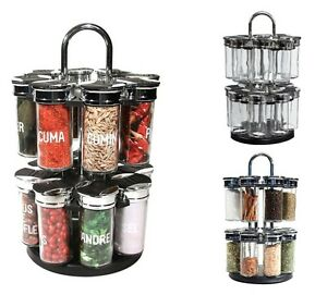 Image Is Loading 16 JAR REVOLVING SPICE RACK ROTATING ROUNDABOUT KITCHEN