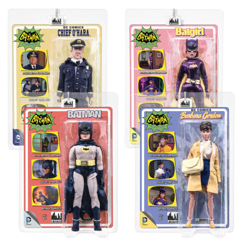 Batman 66 Classic TV Show Retro Style 8 Inch Figures Series 5 Set of all 4