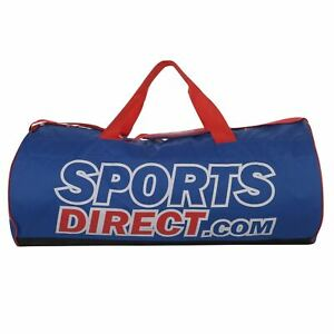 SportsDirect-Zip-Top-Barrel-Bag-Holdall-Sports-Gym-Training-Sack-Rubber-Base