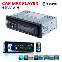 Bluetooth Car In-dash Stereo Audio Sd Usb Input Aux Receiver Fm Mp3 Radio Player