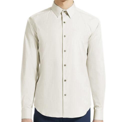 Vapor Theory Mens Sylvain Cotton-Nylon Tailored-Fit Shirt Size Large 3460-8