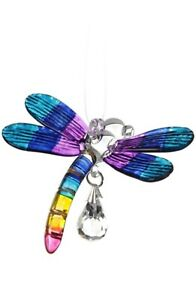Fantasy-Glass-Dragonfly-Suncatcher-With-A-Swarovski-Crystal-Tropical