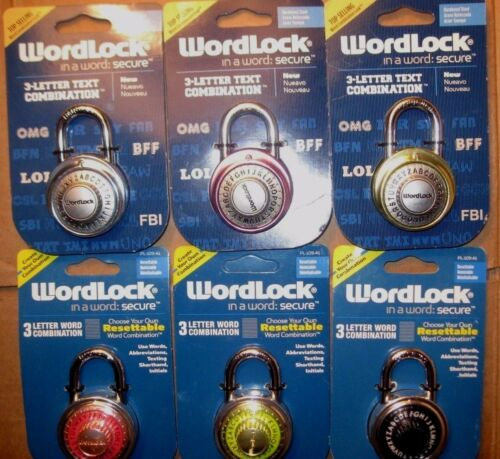"""Wordlock PL-109-A1 PL-095-AX Word Combination Lock /""""Qty 1/"""" NEW sealed package"""