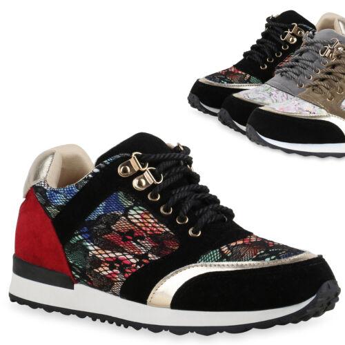 Damen Sportschuhe Runners Spitze Metallic Laufschuhe Sneakers 816328 Top