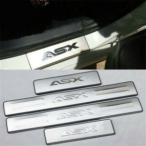 Trim Scuff Pedal Threshold Cover Protection Trim Accessories WFbag 4 Pcs Car Door Sill Protector for Mitsubishi ASX 2011-2020 Car Door Sill Cover Protection