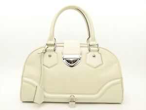 Image is loading Louis-Vuitton-Authentic-Epi-leather-IVORY-BOWLING-MONTAIGNE - feb669d6aba41