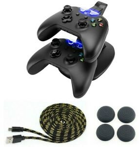 Controller-Gamepad-Ladestation-Thumb-Grips-Ladekabel-3-Meter-fuer-Xbox-One