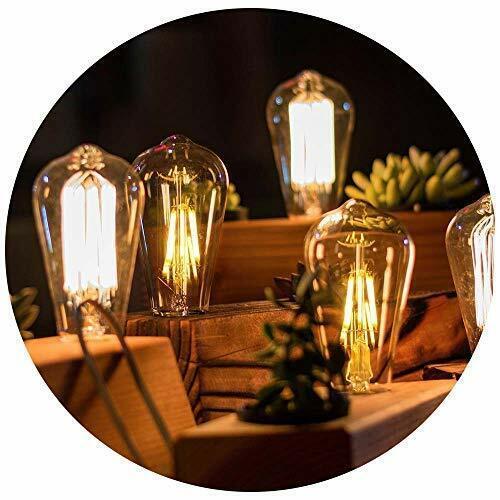 Lightingvintage Ampoule Antique Rétro 40W Edison Ambre Filament Écureuil Cage