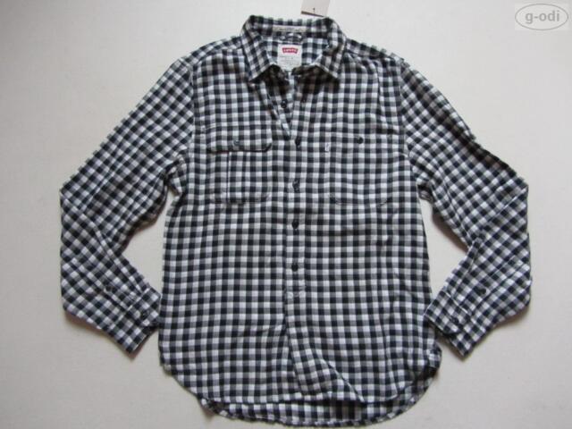 Levi's® Herren Hemd Gr. L, NEU ! schwarz-weiß karierter Holzfäller Look, COOL !