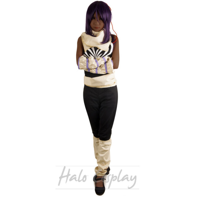 Bleach Black Yoruichi Shihouin Cosplay Costume Women Shirt Custom made Pants