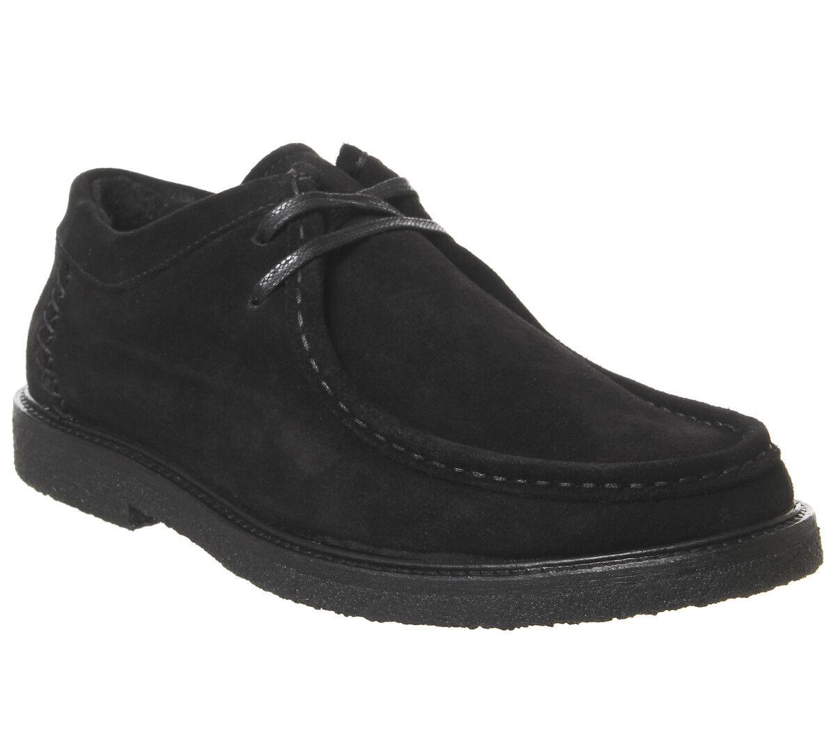Para hombre Poste ibérico Mocasines Negro botas De Gamuza