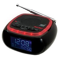 First Alert Am/fm Weather Band Clock Radio With S.a.m.e. Alert, Black/red, New, on sale
