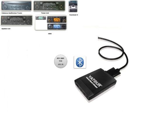 Bluetooth USB adaptador SD AUX mp3 cambiador adecuado para Renault Megane II 2002-09