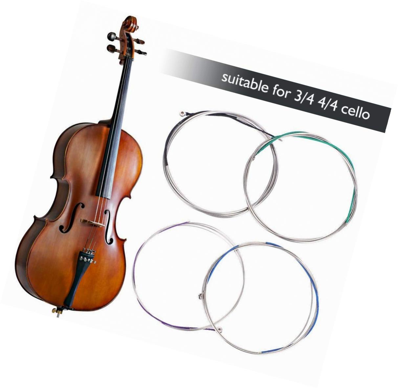 Cello String Set Neusilber C-G-D-A Cello Saiten für volle Größe 4//4-3//4 Cel Heiß