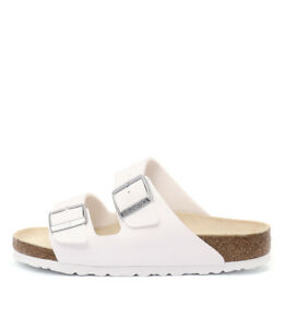 233e5e016 Image is loading New-Birkenstock-Arizona-White-Womens-Shoes-Casual-Sandals-