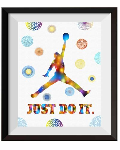 Uhomate Just Do It Basketball Player Poster Canvas Print Nursery Wall Decor C067