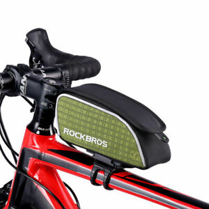 RockBros-Road-Bike-Frame-Bag-Rainproof-Top-Tube-Cycling-Composites-Bag-Green