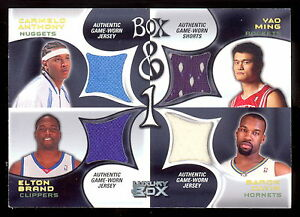 Details About 05 06 Topps Box 1 Carmelo Anthony Yao Ming Baron Davis Game Worn Jersey 54 75