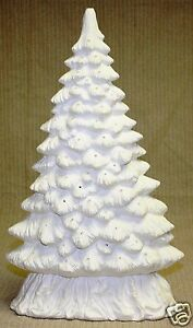 Ceramic Bisque Christmas Tree Window Slim Scioto 1185 ...