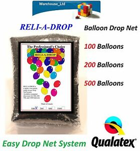 ReliADrop Latex Balloon Drop Net Kit Wedding Birthday Party
