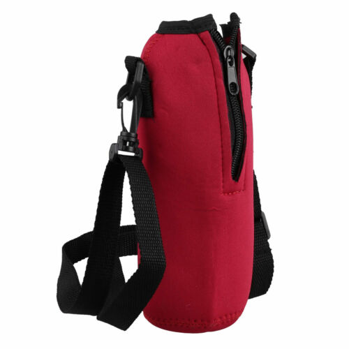 1L Water Bottle Carrier Insulated Cover Case Pouch bag Holder Shoulder Strap