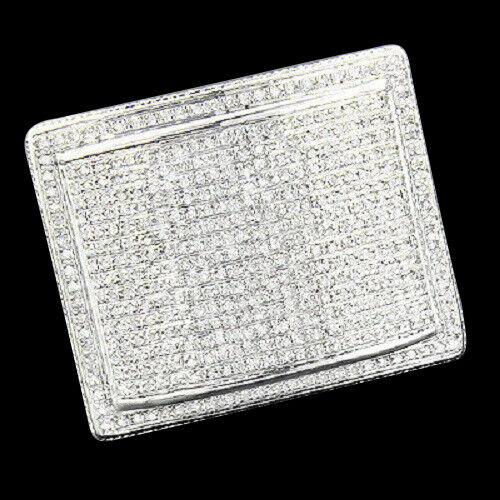2.85 CARAT MENS WHITE GOLD FINISH DIAMOND ENGAGEMENT WEDDING PINKY BAND RING