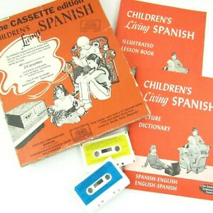 Details about Children's Living Spanish The Cassette Edition Books Lessons  Elementary Vintage