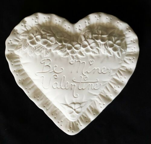 Ceramic Bisque Ready to Paint Be Mine Valentine Decorative Heart
