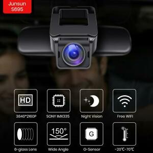 Junsun-Coche-DVR-Camara-4K-UHD-2160P-Incorporado-Wifi-NT96670-Salpicadero