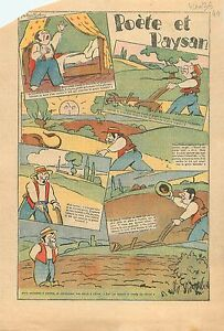 Caricature-Politique-Poete-amp-Paysan-Agriculteur-Soc-Charrue-Campagne-France-1936